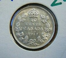 CANADA Canadian 1919 ten 10 cents silver dime coin EF-AU
