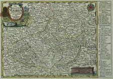 TSCHECHIEN - Markgraftum Mähren - Schreiber - kolorierte Kupferkarte 1730
