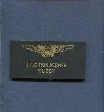 RON SLIDER KERNER TOP GUN MOVIE Costume SQUADRON Flight Suit Name Tag Patch LE