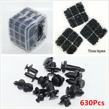 3 Layers 630Pcs Automotive Fasteners Set Car Bumper Fender Retainer Push Clips