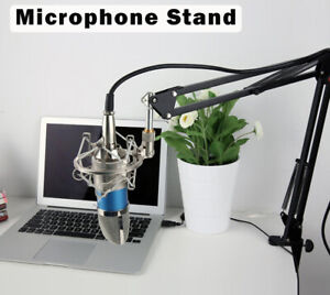 Heavy Duty Microphone Arm Stand Desk Suspension Boom Desktop Mic Holder Mount UK