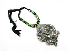 N6106 ETHNIC BOLD Multi color Resin Embossed Wild animal elephant Necklace