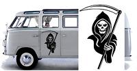 """Grim Reaper  Car/Van/ caravan/ boat Sticker decal Large  18""""x12"""""""