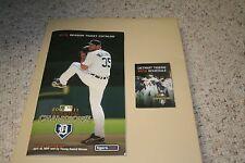 2012 Detroit Tigers Season Ticket Catalog Justin Verlander cover