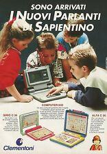 X2851 CLEMENTONI - I nuovi parlanti di Sapientino - Pubblicità 1991 - Advertis.