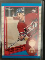 1989-90 O-Pee-Chee Canadiens Hockey Card #323 Norris Trophy