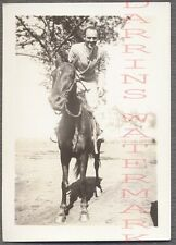 Vintage Snapshot Photo Unusual Man Riding Horse 700249