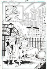 Dan Jurgens Golden Age Superman Lois Lane Original Art Splash Pg Infinite Crisis