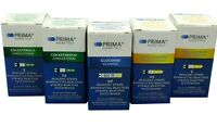 Blood Cholesterol, Glucose & Triglycerides 3-in-1 Test/Testing Strips - Prima