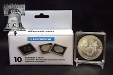 5 Fiji 1oz Silver Taku 2x2 Coin Snaplock Holder Capsule 40mm QUADRUM Case