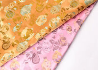 """1/2 YD. X 28"""" DAMASK JACQUARD BROCADE FABRIC: OLD CHINA SNUFF BOTTLE BOUTIQUE -"""