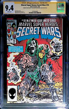 Marvel Super Heroes Secret Wars #10 CGC 9.4 3x Signed by Zeck, Shooter, Beatty