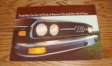 Original 1975 Audi 100LS Deluxe Sales Brochure 75
