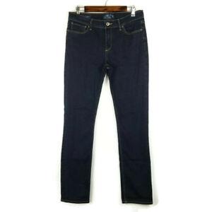 Lucky Brand Womens Brooke Straight Mid Rise Dark Wash Denim Jeans Size 10/30