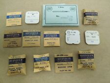 Watchmakers Estate Lot Of 13 Wittnauer Parts Watch House Inventory Nos