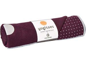 Manduka Yogitoes Skidless Purple Yoga Mat Towel 55318