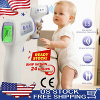 No-contact Touch Infrared Digital LCD Thermometer Head Forehead Baby Adult Gun