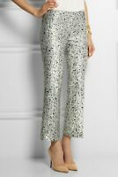 Tory Burch Womens Size 10 Eliana Pant Silk Straight Leg Lined Floral $375 NWT