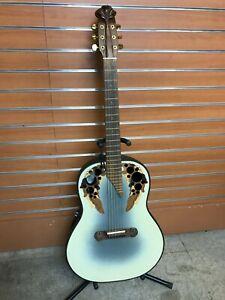 Vintage Ovation Adamas 1689-7 Beige 1990 1/78 Neck W/ hard case