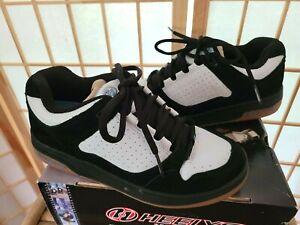 Women's Heelys Impulse Style 9108 Black White Light Blue Sz 8 EUC with Box