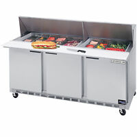 Beverage Air SPE72-30M, 72-Inch Refrigerated Sandwich and Salad Prep Table, UL,