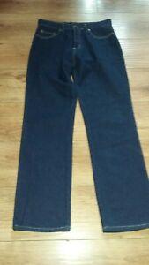 Etam UK 12 Long Dark Blue Denim Jeans VGC 100% Cotton