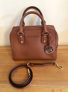 Tan Saffiano Leather Cross-Body/Hand Bag by MICHAEL KORS - IMMACULATE