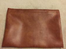 "Tan Case   16""  x  12 1/2""  expandable  Leather"