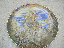 """Franklin Mint Decorative Plate """"Two By Two by Bill Bell"""" Noah's Ark"""