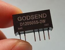 DC-DC Converter Isolated Power In 10V-16V Double Out 5V 120505 2W 200mA UL