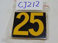 "25 NEW BRADY BRADYLITE REFLECTIVE SELF STICKING NUMBERS 2 7/8"" TALL number ""25"""