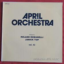 ROLAND ROMANELLI  JANICK TOP  LP ORIG  FR  APRIL  ORCHESTRA  43