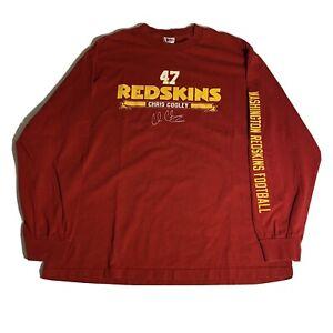 NFL Washington Redskins Chris Cooley Red Long Sleeve Shirt Mens Extra Large XL