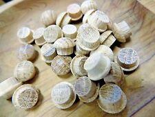 25 Oak Mushroom Head Plugs End Grain Wood Wooden Tapered Dowel Furniture 10mm