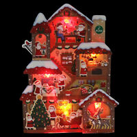 Illuminated Santa Claus Christmas Home Lights and 20 Melodies Pop Up Greeting Ca
