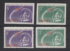 SPACE: GAGARIN - FIRST MAN IN SPACE ON VIETNAM 1961 Scott 160-161 PERF + IMPERF