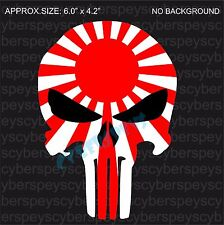 Rising Sun Flag Punisher Style Drift Racing Design Stickers Car Vinyl Decals JDM