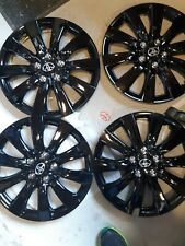 "4-2011 2012 2013   COROLLA HUBCAPS WHEEL COVERS 16"" Black"