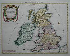 Britannicae insulae - Großbritannien - Landkarte von Nicolas Sanson - 1696