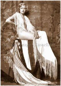Vintage 32 1920's Erotic Female Nude Sepia Retro Art PHOTO REPRINT RussellArt
