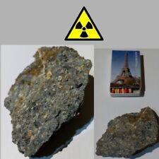 Mineral naturel Uraninite Pechblende compteur geiger Test counter.