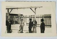 WWII Buchenwald Germany Yard Gallow Orig Candid Photo Snapshot Photograph A176