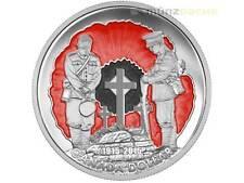 1$ SPECIAL LIMITADA proof plata Dólar Flanders Fields Canadá 2015 PP PLATA