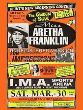 "Aretha Franklin Flint 16"" x 12"" Photo Repro Concert Poster"