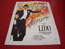 Original Vintage Poster BRAVISSIMO LIDO by Rene Gruau -1990 French Burlesque