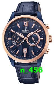 Festina Sport Trend Klassik Datum Chronograph Lederband 5 ATM F 16998 F16998/1