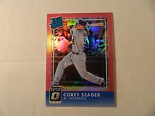 2016 Donruss Optic Pink Refractor Rated Rookie card of Corey Seager - Dodgers