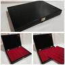 Cofanetto Astuccio per monete con 2 vassoi colore all Black - Coin wooden box