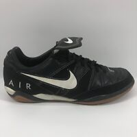 NIKE AIR BRASILIA SOCCER SHOES NO CLEATS SIZE 9.5 MENS Black