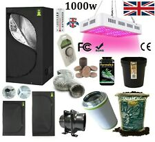More details for complete 1000w led grow light tent kit set up all sizes indoors hydroponics